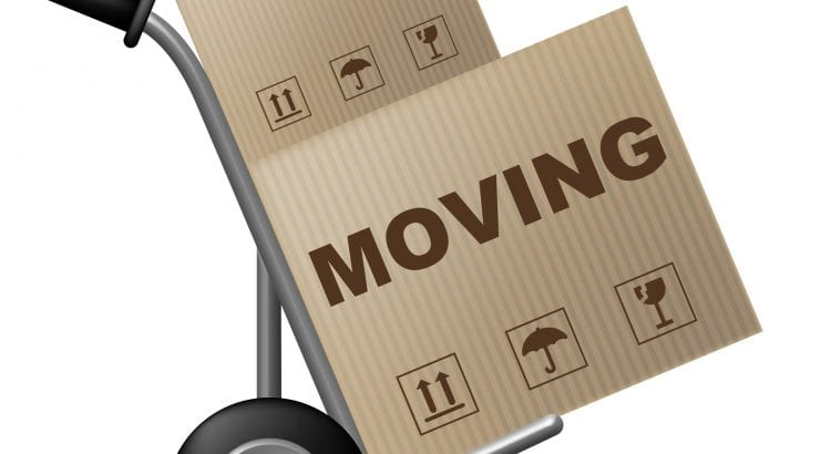 Moving House Indicates Buy New Home And Box
