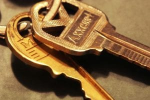 house keys handed over